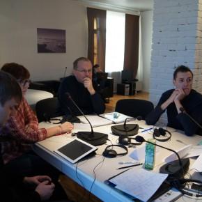 Занятия магистрантов КВШП с Лиэмом Лонгом