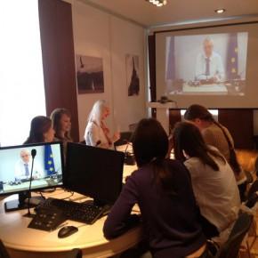 Видеоконференция с коллегами из Еврокомиссии