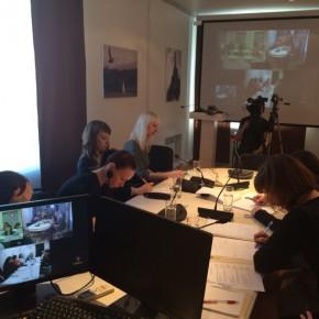 Трёхсторонняя видеоконференция с университетами Женевы и Любляны